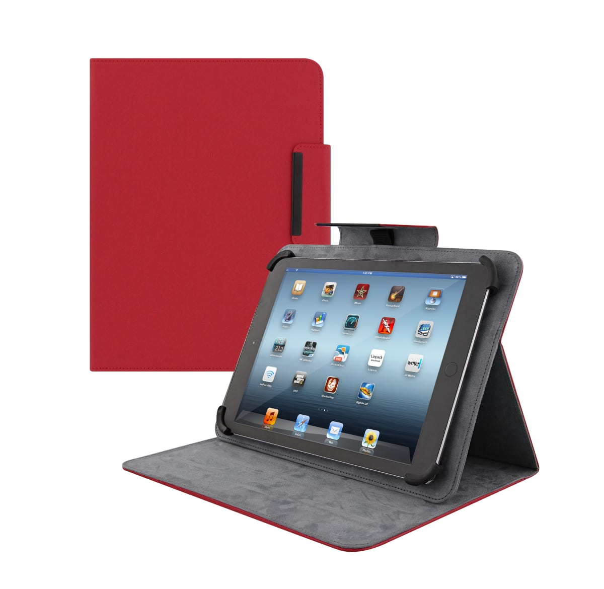 "Universal folio case for tablet 10"" REGULAR red"