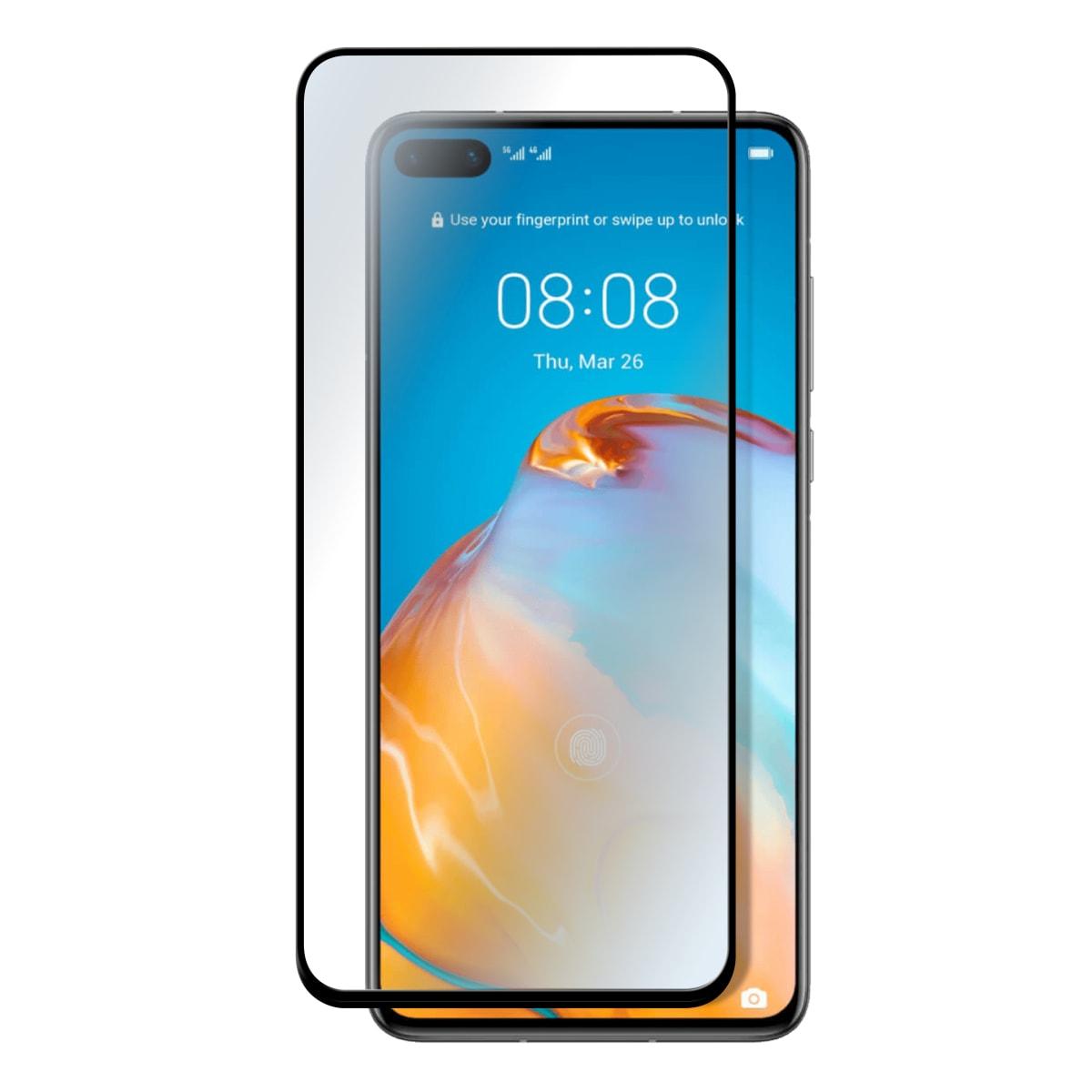 Protection intégrale en verre trempé pour Huawei P40.
