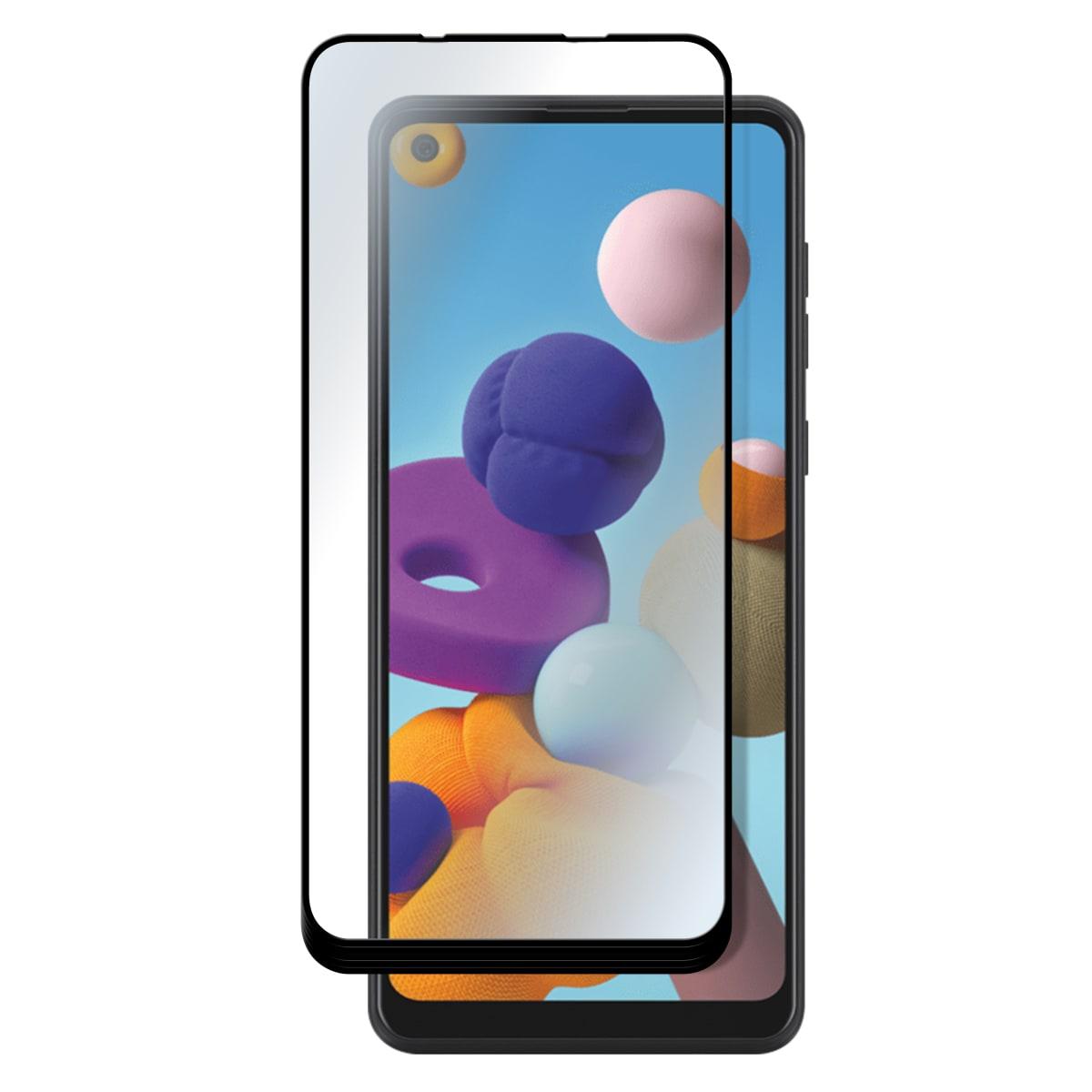 Protection intégrale en verre trempé pour Samsung Galaxy A21