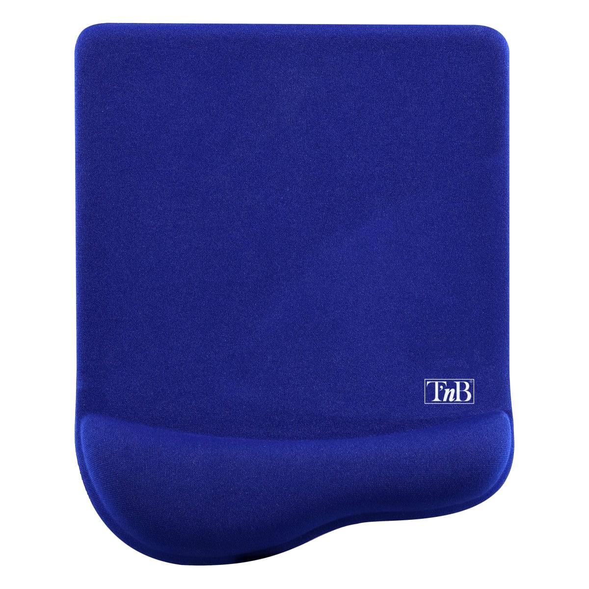 Ergonomic blue antimicrobial gel mouse pad