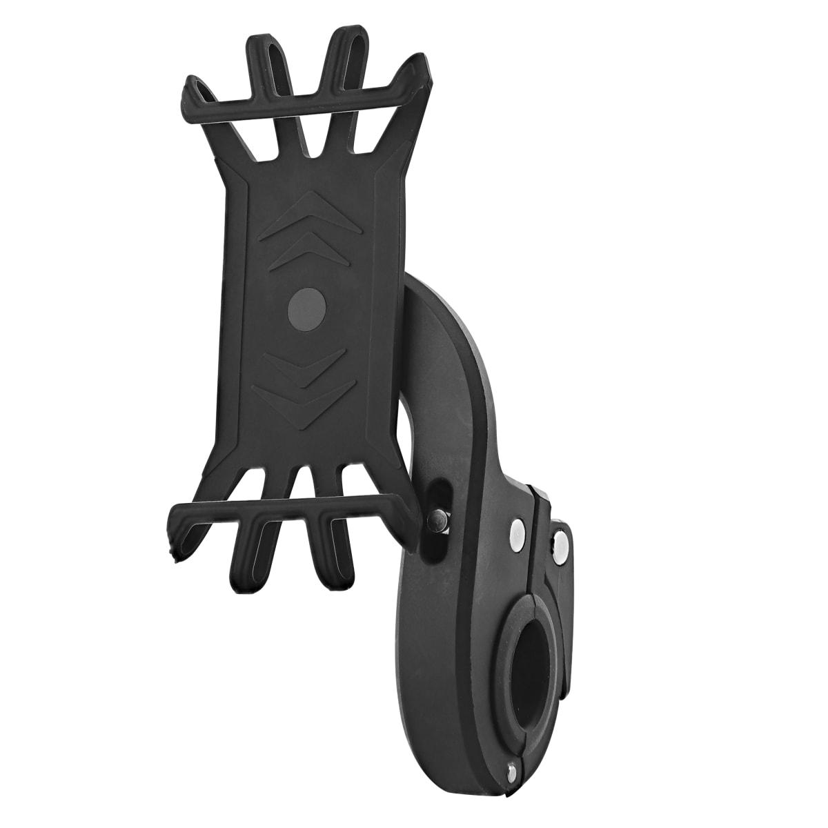 Rotary smartphone holder for bike/e-scooter