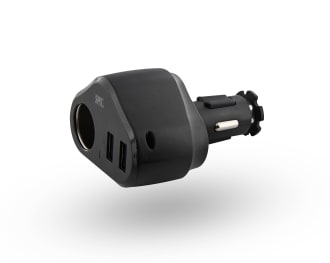 2XUSB-A 24W car charger + cigar lighter socket