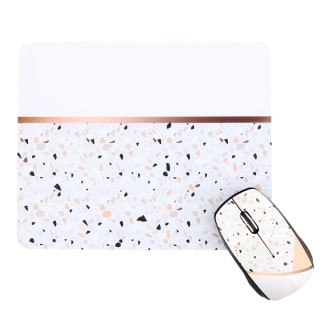Bundle mouse pad and wireless mouse TERRAZZO EXCLUSIV