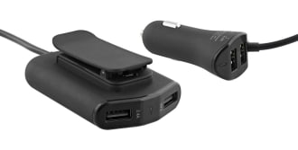 4XUSB-A 48W car charger with two ports for backseat passengers