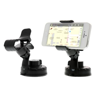 Compact suction cup clip holder