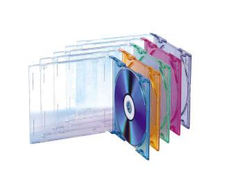 CD cases x5 SLIM COLOR