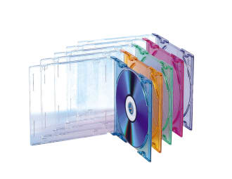 CD cases x5 SLIM COLOR
