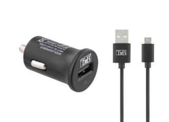 1XUSB-A 6W car charger + micro USB cable