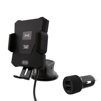 Premium 10W wireless car charger with suction cup jaw holder