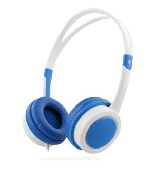 KIDS decibel limiter jack 3,5mm wired headphone blue