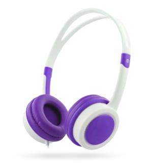 KIDS decibel limiter jack 3,5mm wired headphone pink