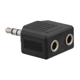 2 jack 3,5mm female / jack 3,5mm male adapter