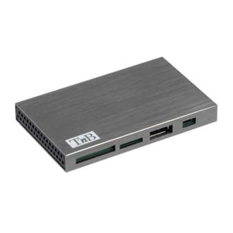 Hub lecteur de carte multifonction 7x ports en aluminium