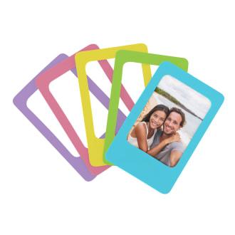 5 cadres photos magnétiques format mini
