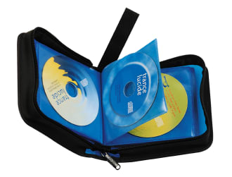CD storage case x36 blue