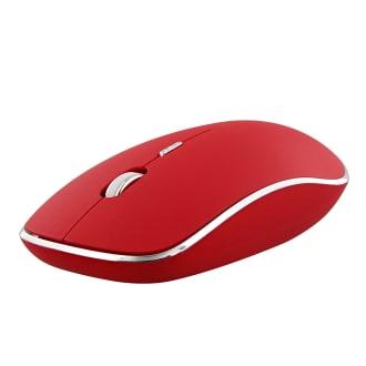Souris sans fil silent click RUBBY rouge