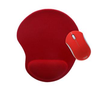 Pack souris sans fil et tapis de souris ergonomique