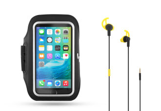 ERGONOMIC EARPHONES + ARMBAND PACK