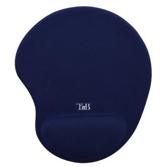 Tapis de souris ergonomique avec repose-poignet bleu