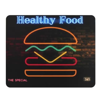 NEON mouse pad - BURGER design