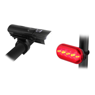 Pack of front and rear LED lights for bike