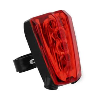 Rear LED and laser light for bike