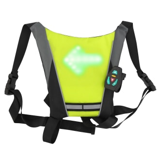 Safety vest with indicator lights