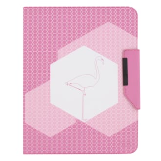 "Universal folio case 360° for tablet 10"" FLAMINGO"