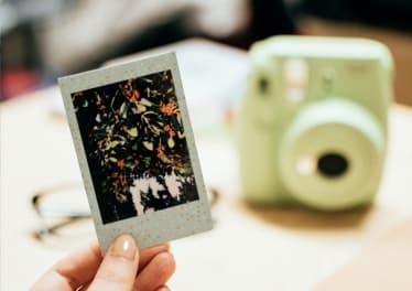 Photo imprimée d'un appareil instantané