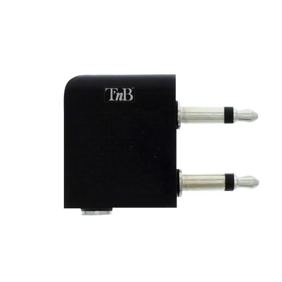 Jack 3,5mm male / 2 jack 3,5mm female audio airplane adapter