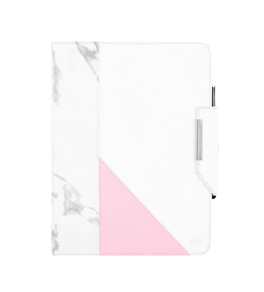 """Universal folio case + stylus for tablet 10"""" MARBLE"""