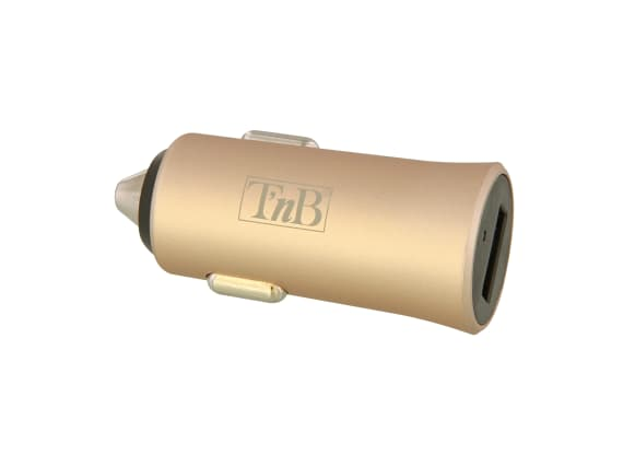 1XUSB-A 12W car charger gold finish