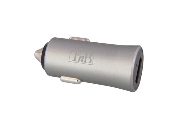 1XUSB-A 12W car charger silver finish