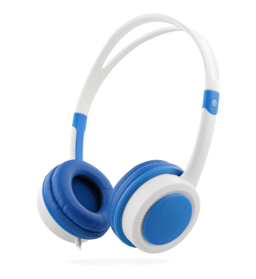 KIDS decibel limiter jack 3,5mm wired headphone blue