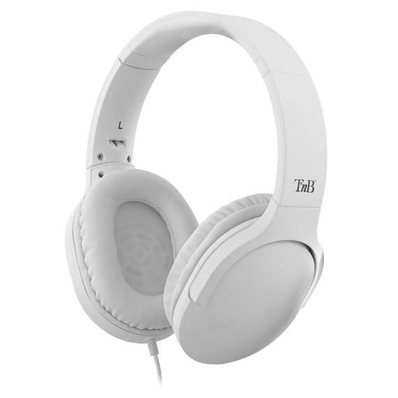 C SOUND jack 3,5mm / USB Type-C wired headphone white
