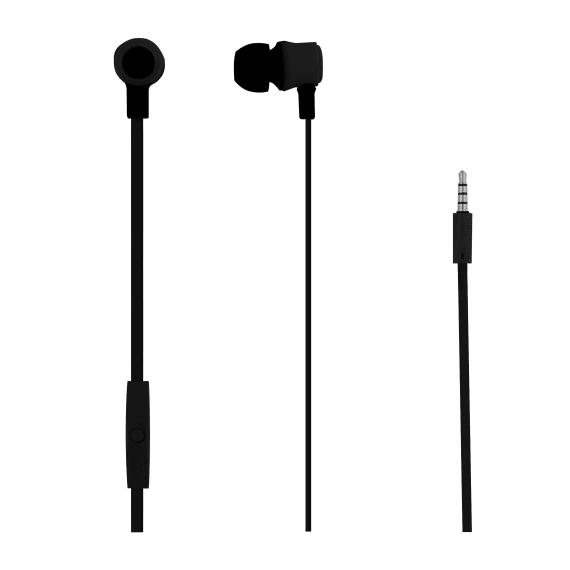 Wired earphones MOOD jack black