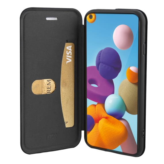 Premium folio case for Samsung Galaxy A21s.