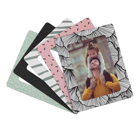 5 magnetic photo frames 10 x 15 cm format