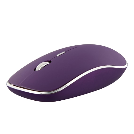 Souris sans fil silent click RUBBY violette