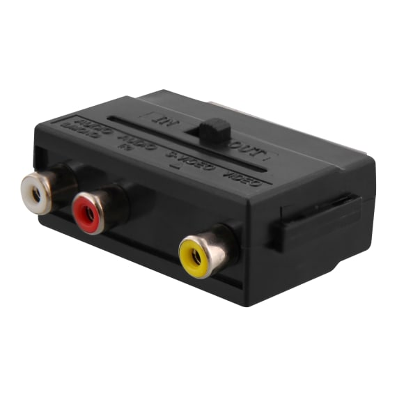 Male scart / 3 female RCA adapter
