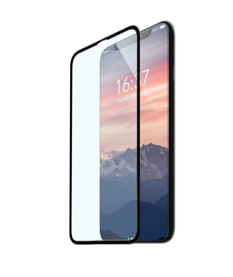 Protection intégrale en verre trempé pour iPhone X.