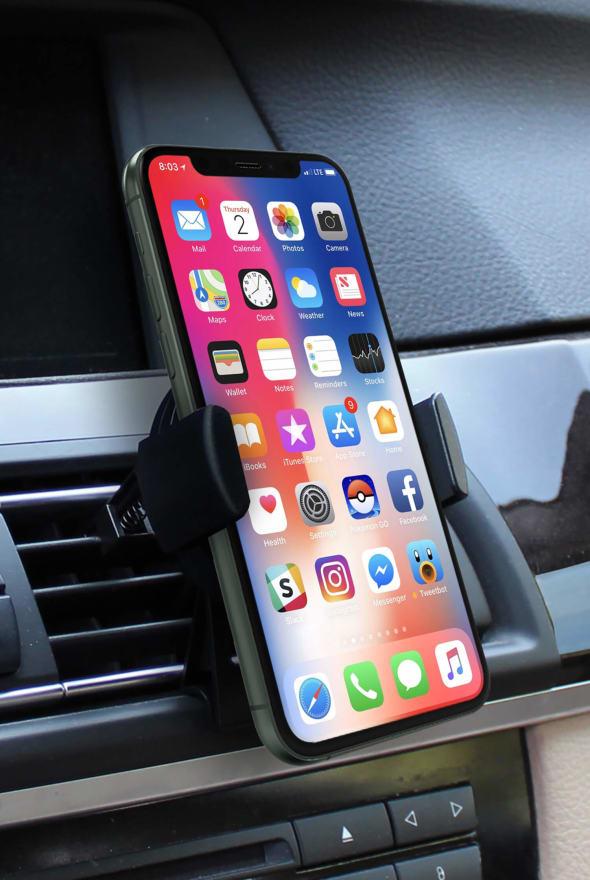 Support de téléphone portable dans une voiture