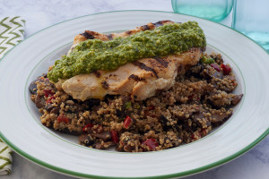 Pesto Crusted Chicken Breast