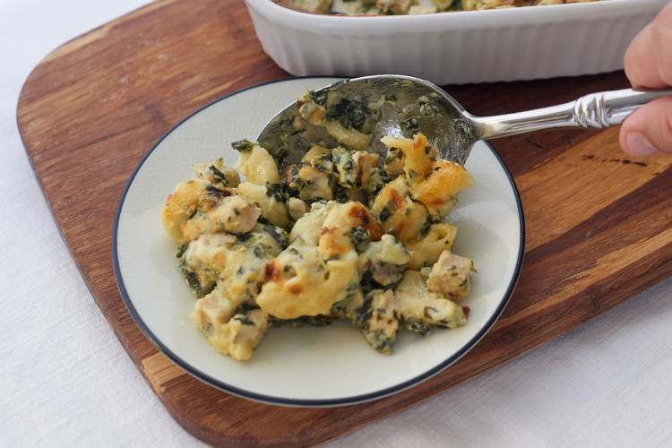 Creamy Chicken and Spinach Casserole