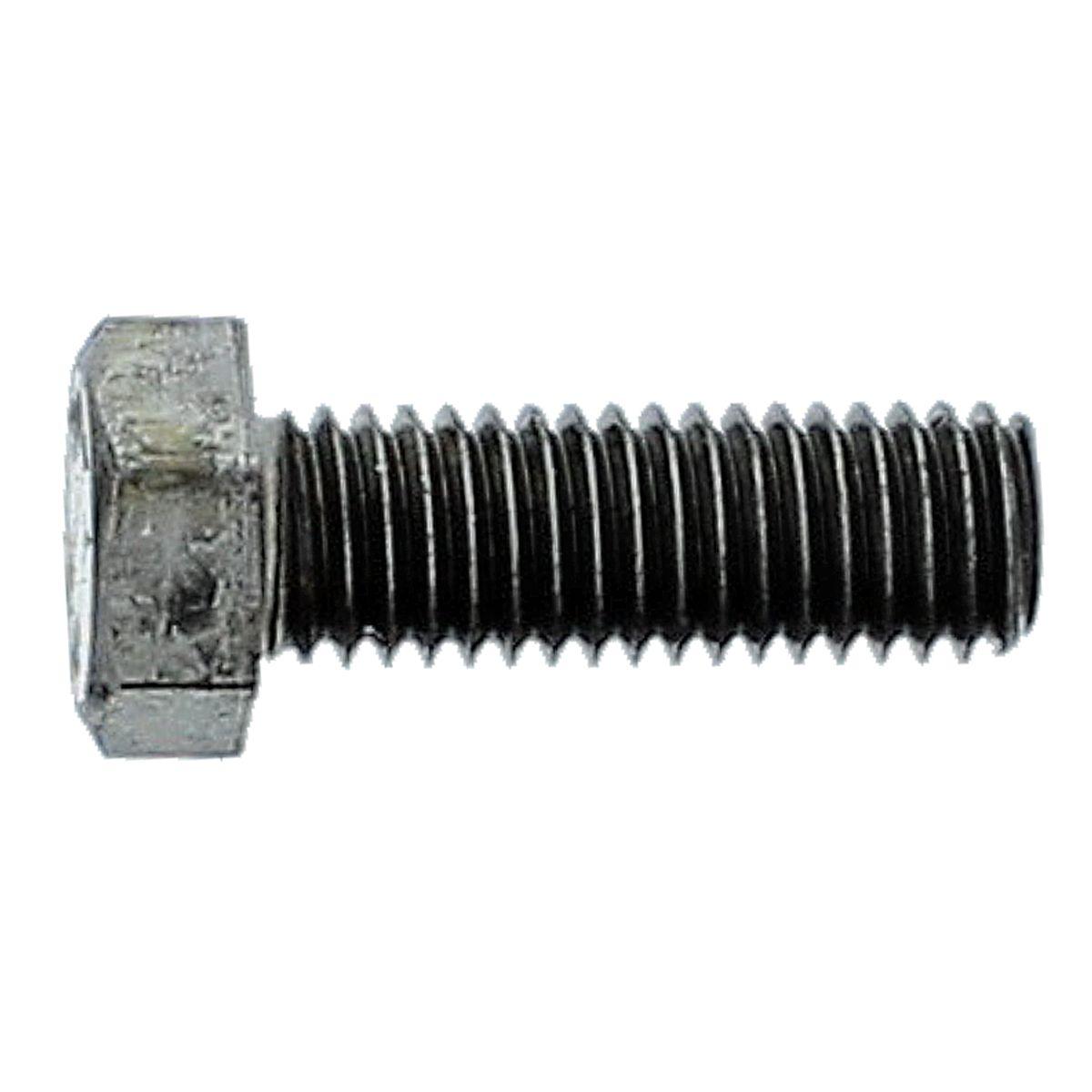 "1""-8 x 2-1/2"" Hex Bolts — ASTM A307 Grade A, Coarse Thread, Plain, 1/PKG"