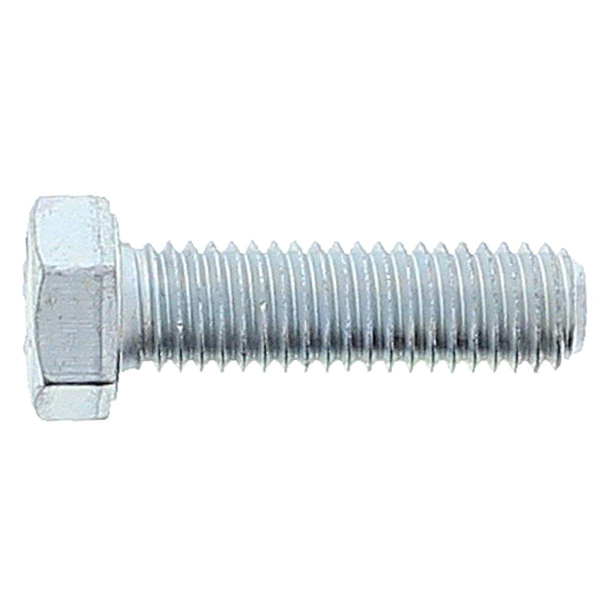 "1""-8 x 2-1/2"" Hex Cap Screws — SAE J429 Grade 5, Coarse Thread, Zinc, 1/PKG"