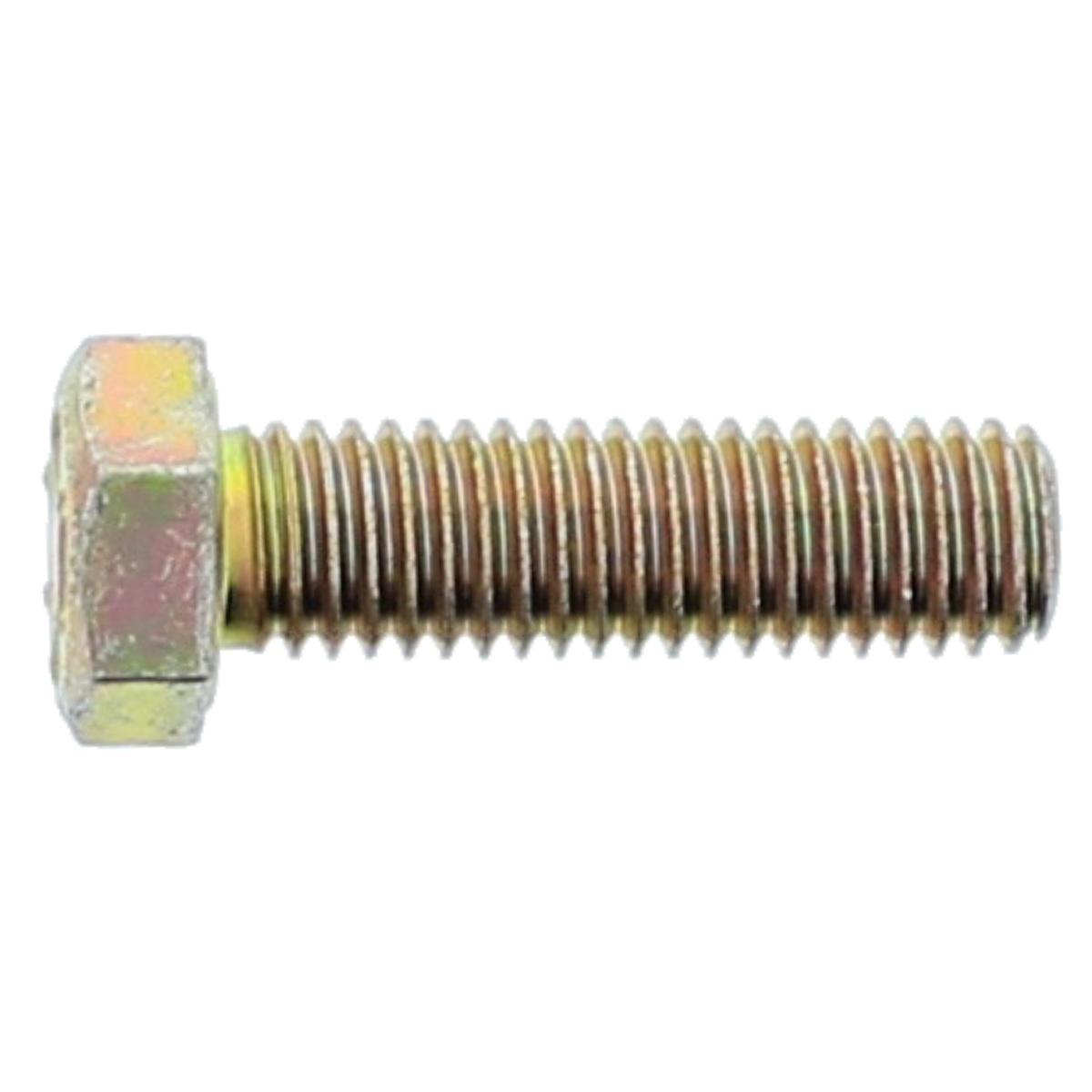 "1-1/4""-7 x 2-1/2"" Hex Cap Screws — SAE J429 Grade 8, Coarse Thread, Zinc Yellow, 1/PKG"
