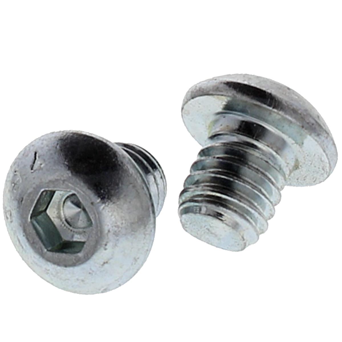 "#10-24 x 1-1/4"" Button Head Socket Cap Screws — Alloy Steel Heat Treated, Coarse, Zinc, 100/PKG"