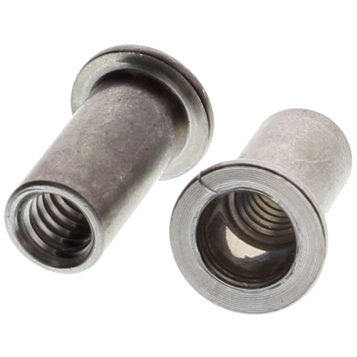 #10-24, .080-.130 Grip Rivet Nuts, Aluminum - Coarse, 100/PKG