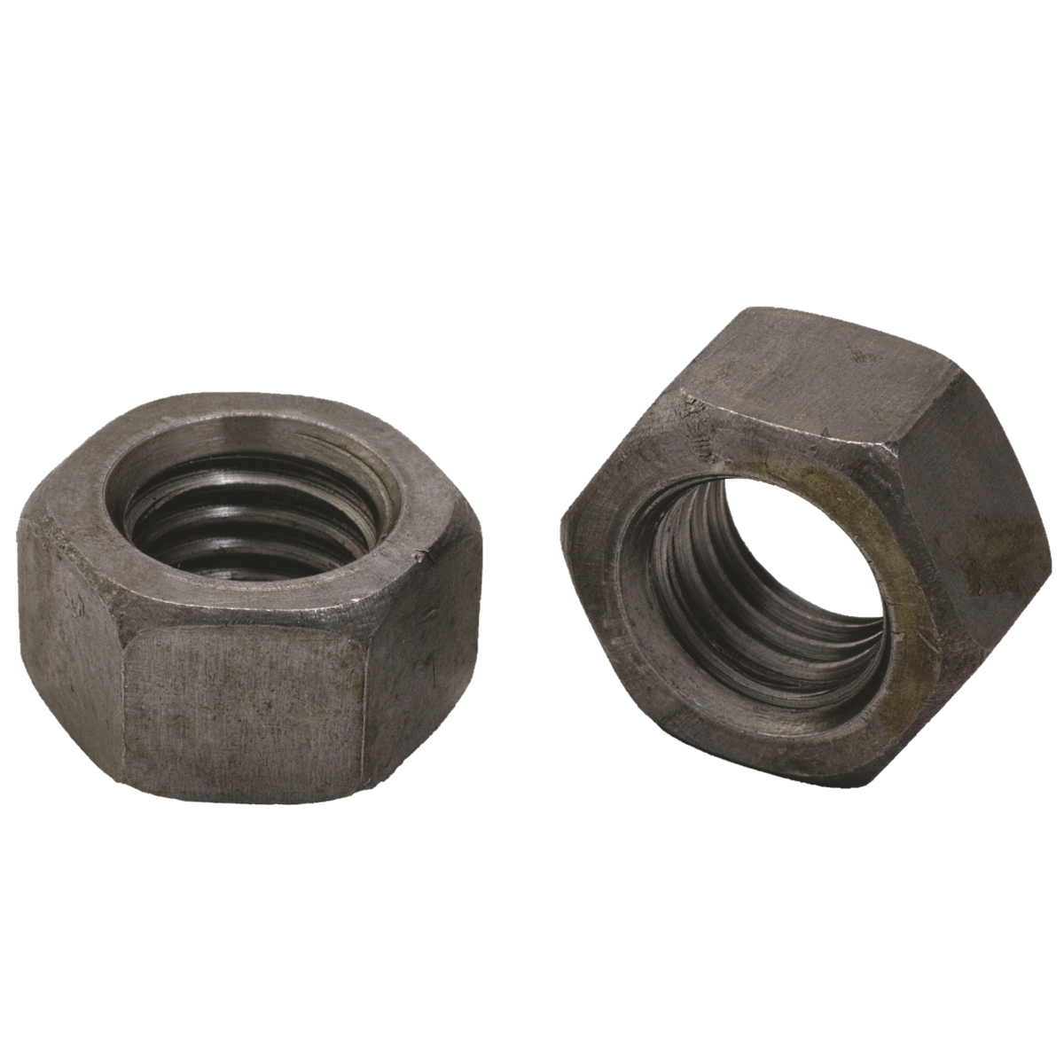 """1-1/8""""-12 Finished Hex Full Nuts — ASTM A563 Grade A, Plain, Fine, 1/PKG"""